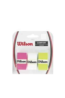 Wilson Pro Overgrip-Comfort 3pk-assorted-white/green/pink