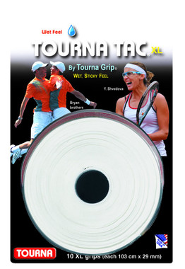 Unique Tourna Tac, Tacky Feel Tennis Grip, White (10/Roll Pack)