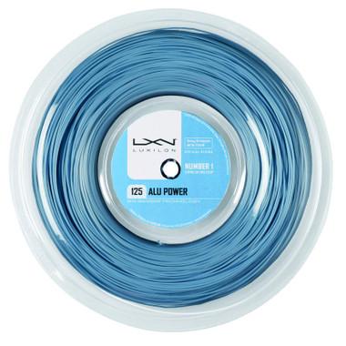 Wilson ALU Power 125 Tennis Racquet String (Reel), Ice Blue