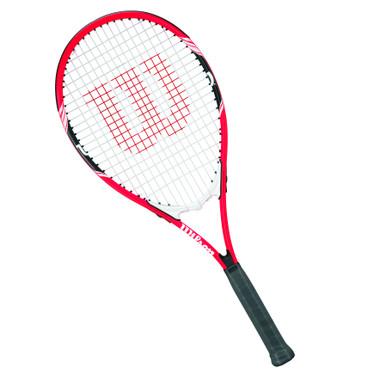 Wilson Federer Tennis Racket (Orange/Black/White, 4-3/8 Inch Grip)