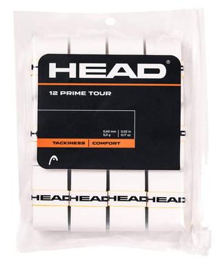 HEAD Prime Tour Overgrip - 12 Pack  (White)