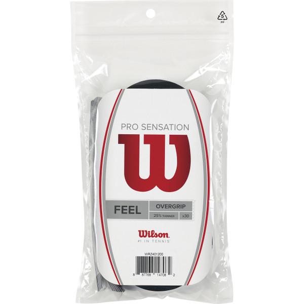 Wilson Pro Sensation Overgrip (30-Pack), Black
