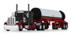 """*Pre-Order* First gear Peterbilt® Model 359 with 36"""" Flat Top Sleeper & Mississippi® LP Tank Trailer 1/64 Maroon/White # 60-1146"""