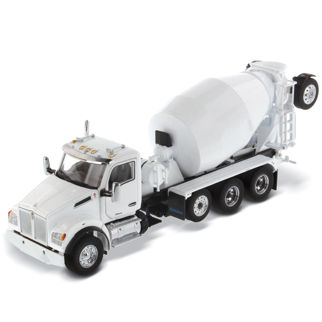 Diecast Masters Kenworth T880 SBFA Tandem w/Mixer - Pearl White 1:50 71081