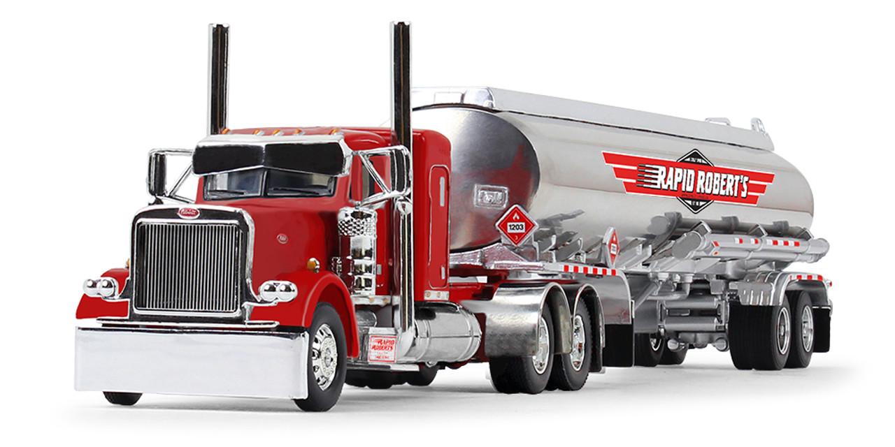 "*Pre-Order* First Gear Rapid Roberts Inc Peterbilt® Model 389 with 36"" Flat Top Sleeper & Heil® Fuel Tank Trailer 1/64 60-1168"