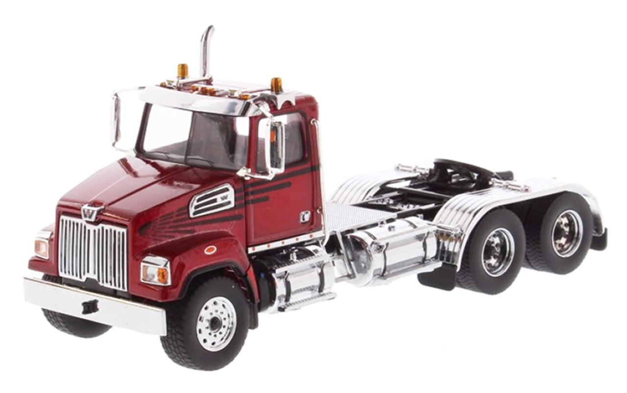 Diecast Masters Western Star 4700 SF Tandem Day Cab in Metallic Red 1/50 71037