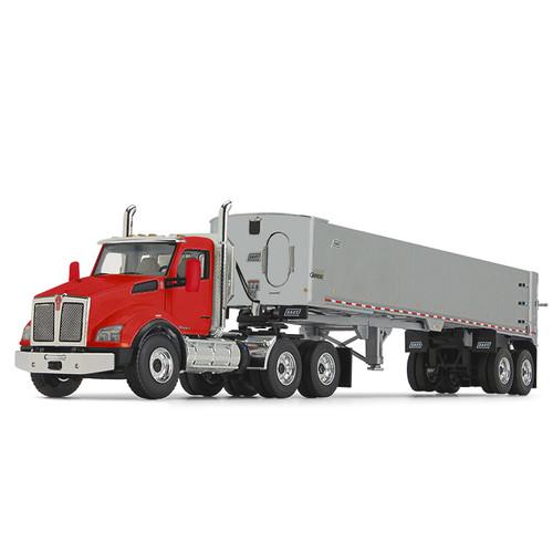 First Gear Kenworth T880 Red w/Genesis End Dump 1/50 50-3455
