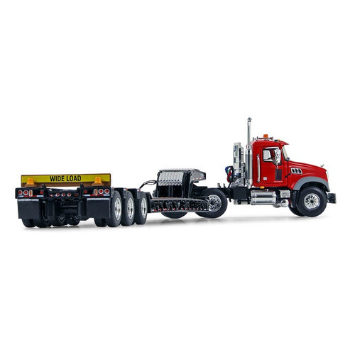 First Gear Mack Granite MP Day Cab with Talbert Tri-Axle Lowboy Red/Black 1:50 scale 50-3117