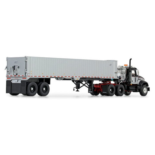 First Gear Mack Granite MP and East Genesis End Dump Trailer 1/50 50-3456