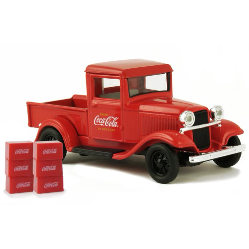 Coca-Cola Coke 1934 Ford Model A Pickup with 6 Bottle Cartons  1:43
