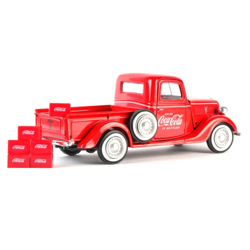 Coca-Cola Coke 1937 Ford Coca-Cola Pickup with 6 Bottle Cartons 1:24
