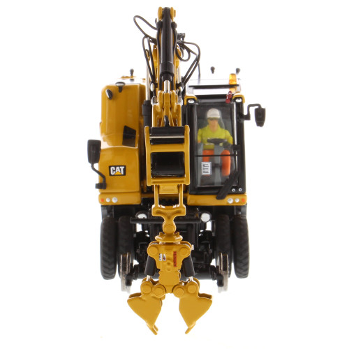 *Pre-Order* Diecast Masters Caterpillar  Cat M323F Railroad Wheeled Excavator - Cat Yellow Version 1:50  Scale 85662