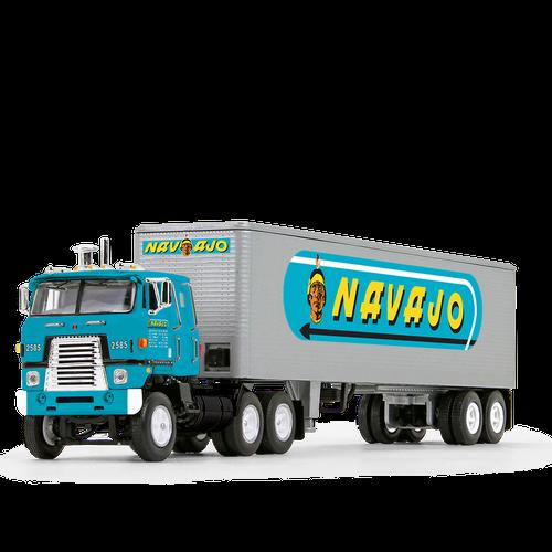 *Pre-Order* First Gear Fallen Flag® #40 Navajo Freight LinesInternational® Transtar® COE & 40' Vintage Trailer  1/64 60-1168