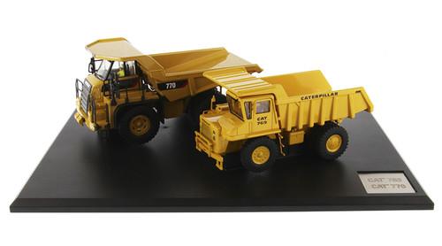 Diecast Masters  Caterpillar 769 (Past) & 770 Off-Highway Trucks w/Operators 1/50 85562