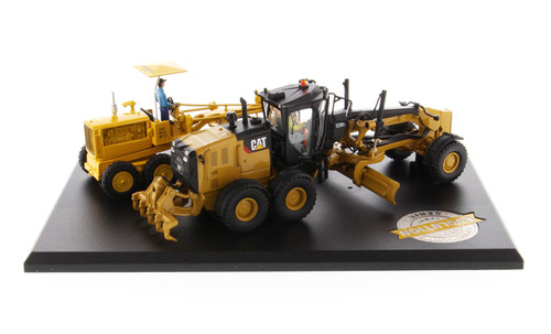 Diecast Masters CAT #12 Motor Grader (PAST) & 12M3 Motor Grader (Current) 1/50