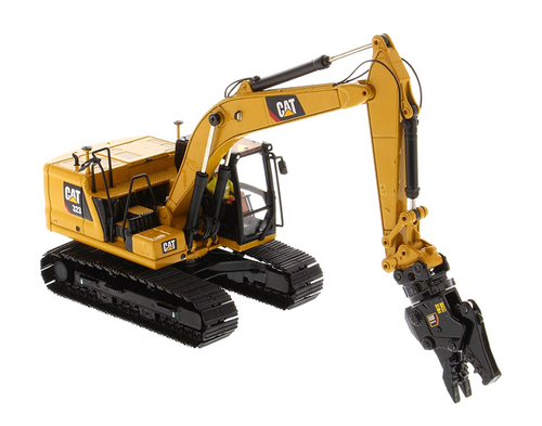 Diecast Masters Caterpillar 323 Hydraulic Excavator Next Generation Design w/Operator & 4 Work Tools High Line Series 1/50 Diecast Model by Diecast Masters 85657