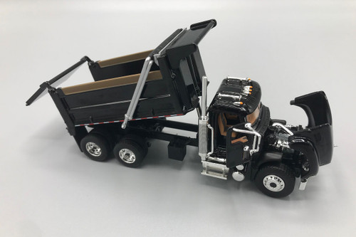 FG First Gear Mack Granite Dump Truck Black 1/64 Scale 60-0387
