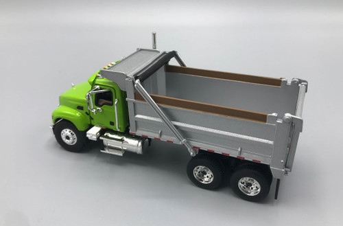 FG First Gear Mack Granite Dump Truck Lime Green ~ Silver 1/64 Scale 60-0389