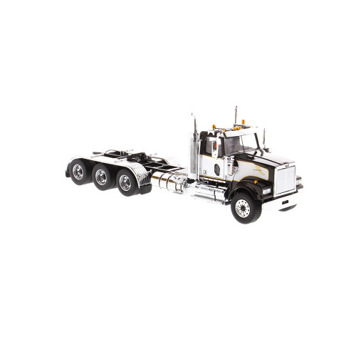 Diecast Masters Western Star 4900 SF Day Cab Tridem Tractor- Black cab (with white decoration)1/50