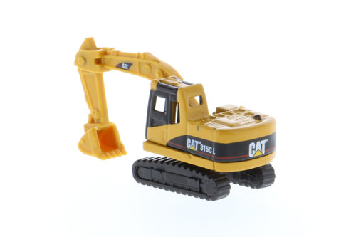 Diecast Master CM323F Railroad Wheeled Excavator, CAT Yellow 1/50 85656