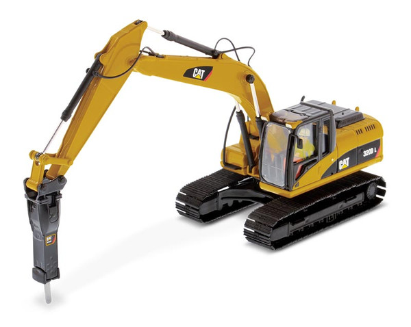 Diecast Masters Caterpillar 320D L Hydraulic Excavator with Hammer 1/50