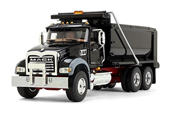 First Gear Mack Granite Dump Truck Black w/Red Chassis (50-3386) 1/50