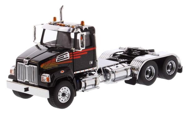 Diecast Masters Western Star 4700 SF Tandem Day Cab in Metallic Black 1/50 71036