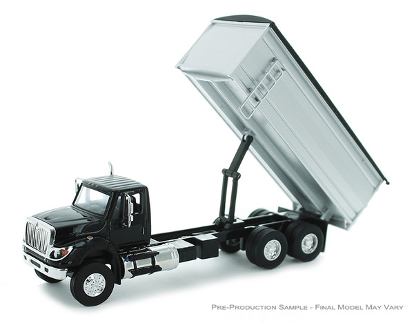 Greenlight International Workstar in Black with Red Grain Bed 51290-C 1/64 Scale