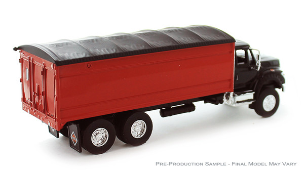 Greenlight International Workstar in Black with Red Grain Bed 51290-D 1/64 Scale