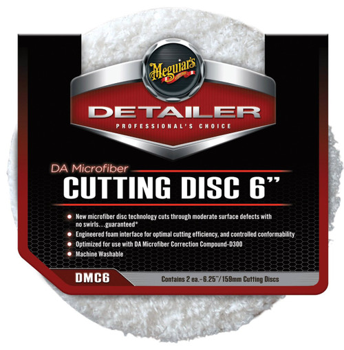 "Meguiar's DA Microfiber Cutting Disc 6"" (2 pack)"