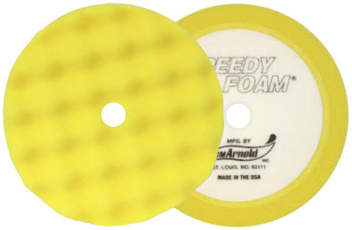 "SM Arnold - 8"" Yellow Waffle Buffing Pad - (2 pack)"