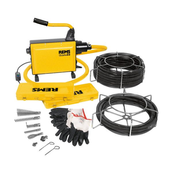 Rems 172012 Cobra 22 Set 16 + 22 Electric Pipe & Drain Cleaner