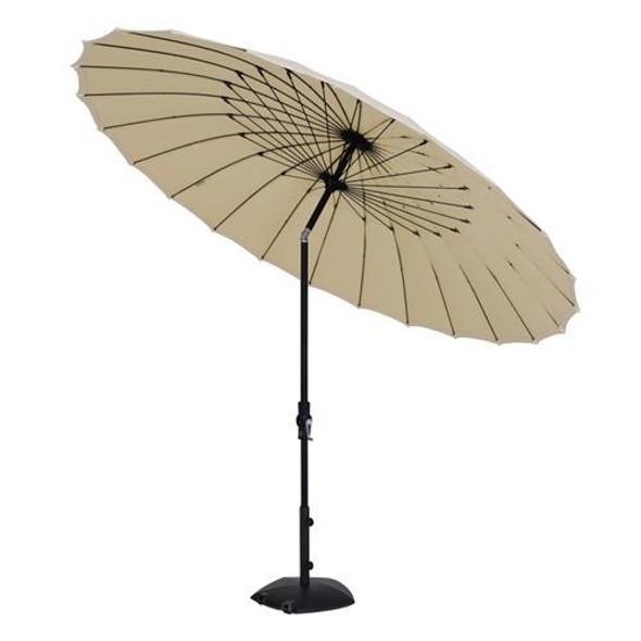 10' Round Canton Collar Tilt Umbrella - Khaki