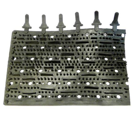 Aqua Products Rubber Brushes Black - NE369
