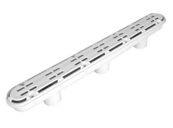 "Aquastar 32"" Channel Drain With 3 Port Sump-AV Anti-Entrapment Suction Outlet Cover -Light Gray - 32CDAV103"