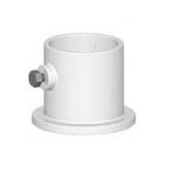 "Permacast 1.9"" Aluminum Deck Ladder Flange - White"