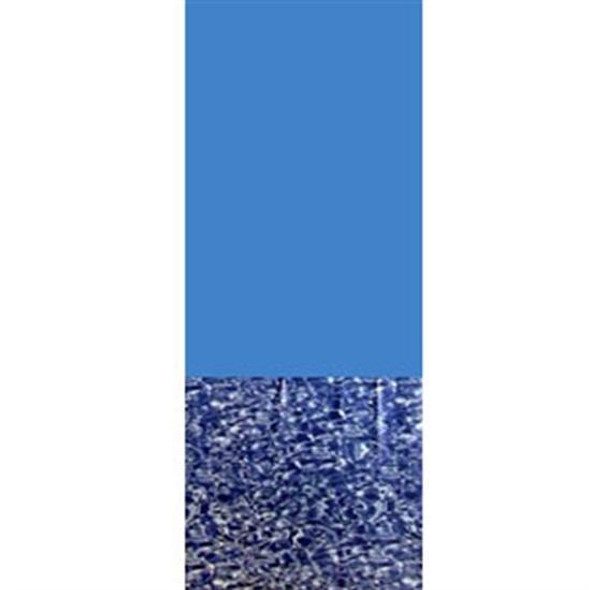 Above-Ground Pool 20 GA. Blue Wall-Swirl Bottom Overlap Vinyl Liner- 12' X 18' OVAL