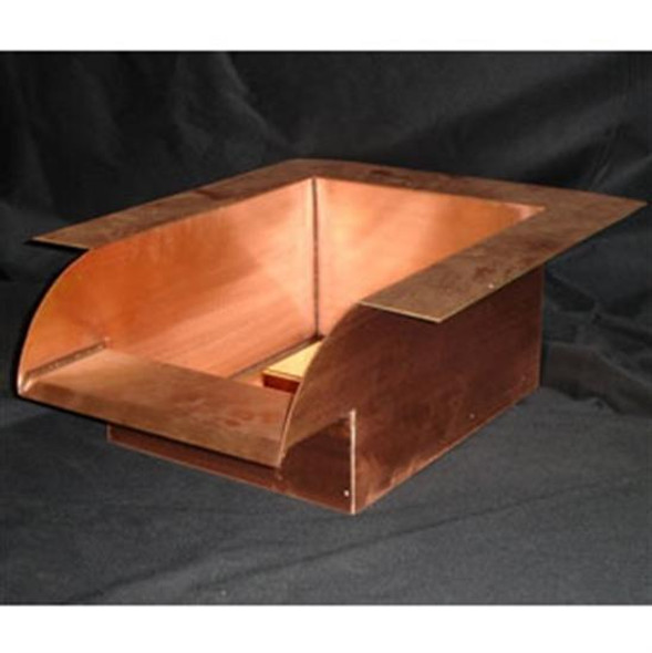 "Bobe 16"" Smooth Flow Radius Copper Scupper"