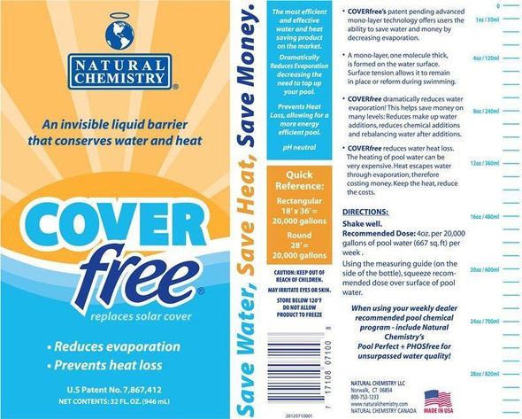 Natural Chemistry COVERfree Liquid Solar Blanket Pool Cover 32 oz.