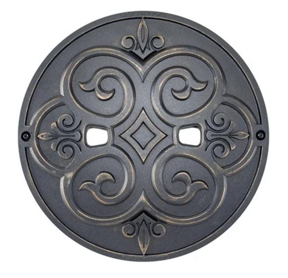 """Casa Newport 9.9"""" Bronze Metal Skimmer Lid - 20-01011"""
