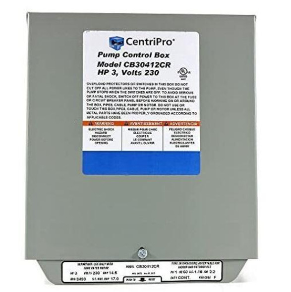 Goulds 3 HP 230V CentriPro CSCR Control Box - CB30412CR