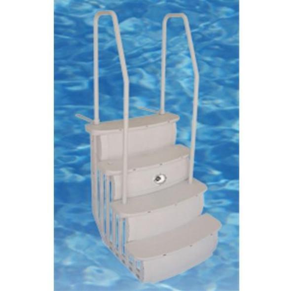 "Hercules 36"" Easy Entry ABG Step Taupe - Dual Handrail"