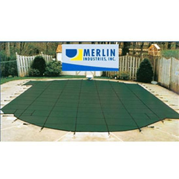 Merlin SmartMesh 16' x 32' Rectangular Safety Cover - Green