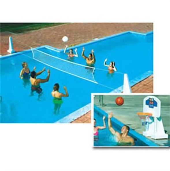 Pool Jam In-Ground Volley Ball - Basket Ball Combo
