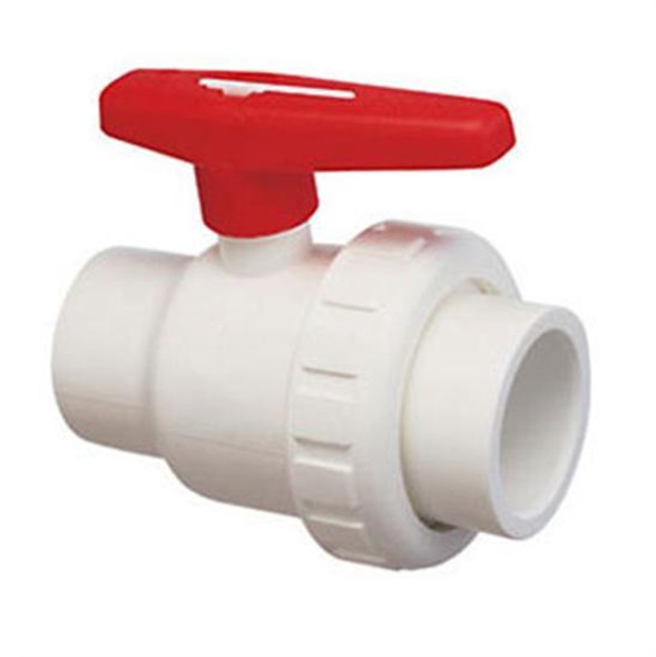 "Praher 1.5"" MPT x FPT Single Union Ball Valve PVC - Schedule 8"