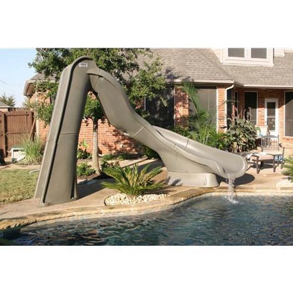 SR Smith Turbo Twister Pool Slide Right Turn Gray Granite - 688-209-58124