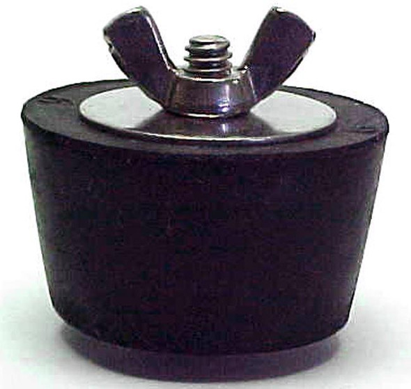 "Technical Products No. 10 Winter Plug 1.5"" Fitting with Stainless Steel Wingnut - 10S-PLUG"