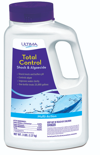 Ultima Total Control Shock and Algaecide 3 lbs 1 Jar - LT24726-1JAR