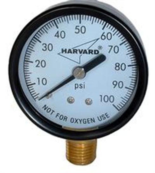 "American Granby 1-8"" MPT Lower Pressure Gauge - Steel Case"