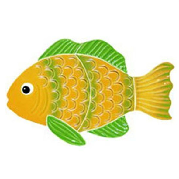 Artistry In Mosaics Aquatic Line Green Striped Reef Fish Mosaic Tile - Small